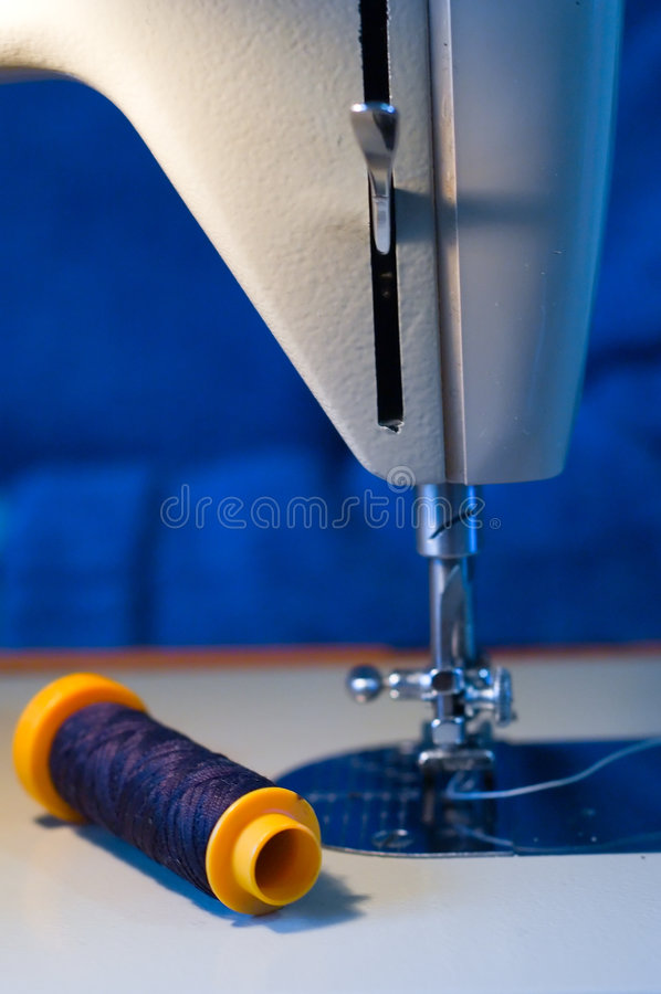 Sewing machine and row stock photos
