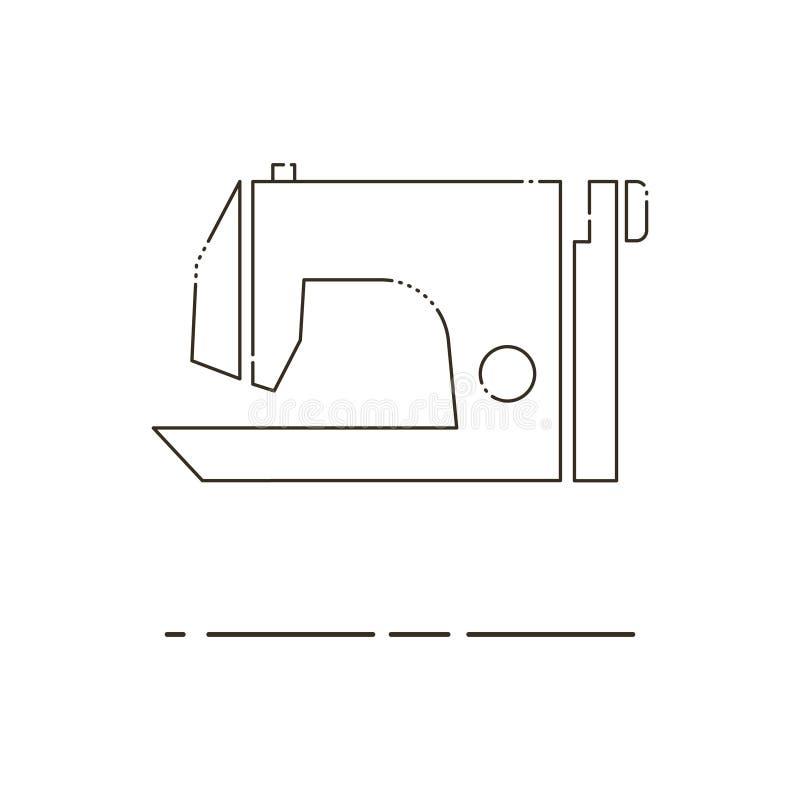 Sewing Machine Thin Line Icon Mbe Minimalism Style Stock