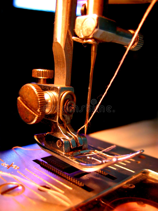 Sewing machine threaded royalty free stock images