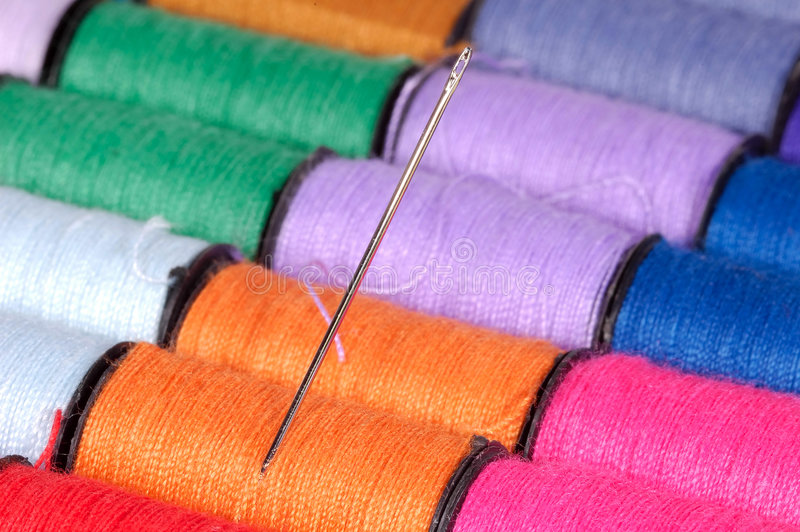 Sewing Needle royalty free stock images