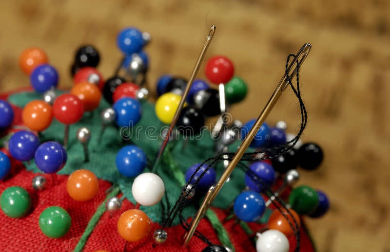 Sewing Needles royalty free stock photography