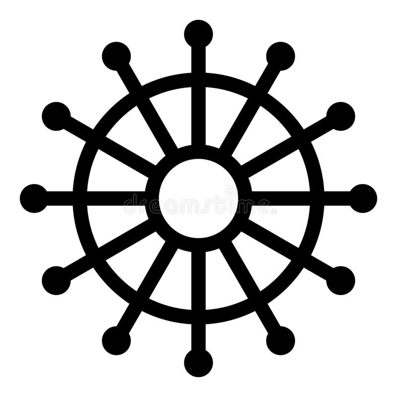 Sewing pinwheel icon, outline style. Sewing pinwheel icon. Outline sewing pinwheel vector icon for web design isolated on white background vector illustration