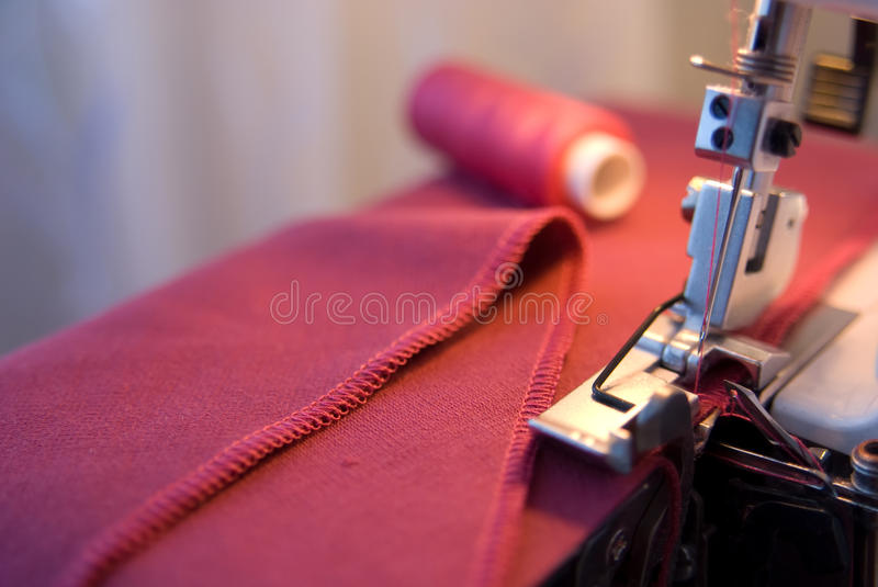Sewing process stock image