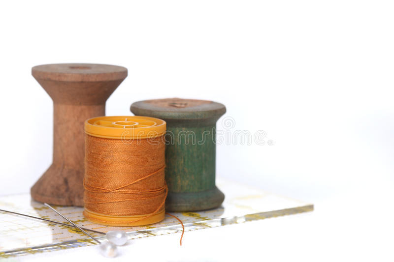 Sewing and Quilting Thread On White