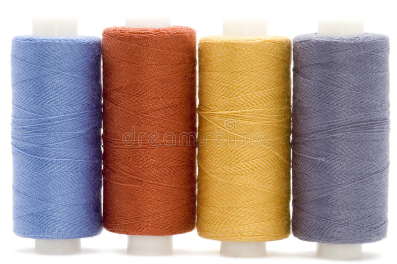 Sewing rolls stock photography