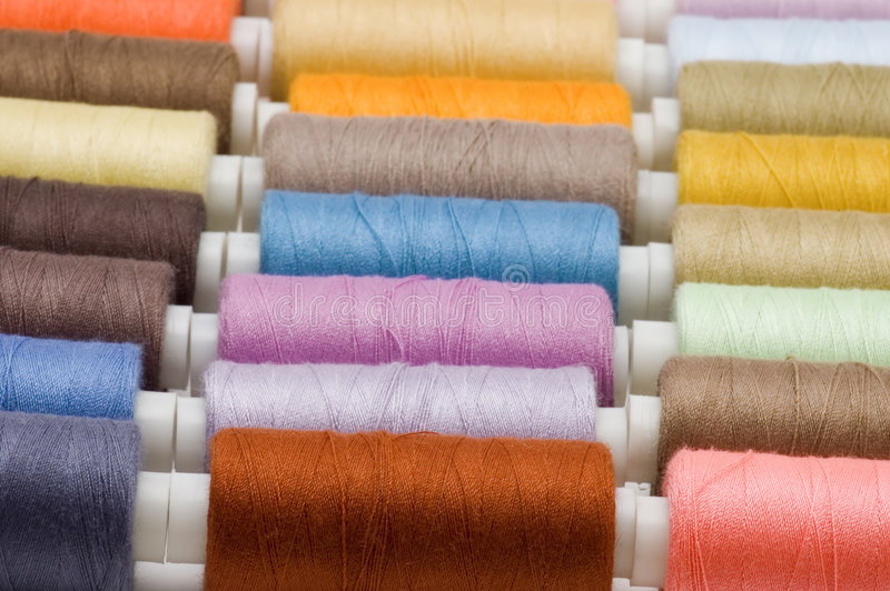 Sewing rolls royalty free stock photo