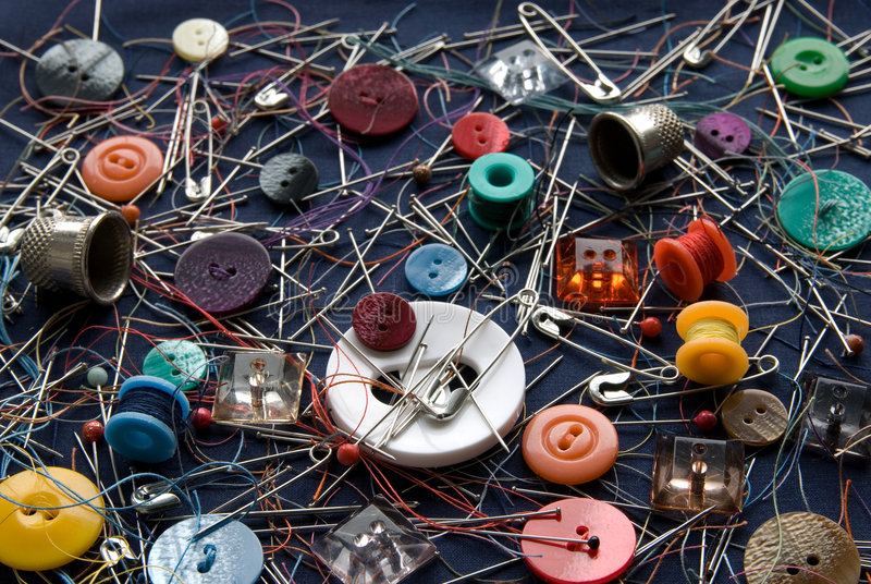 Sewing Small Things Stock Images