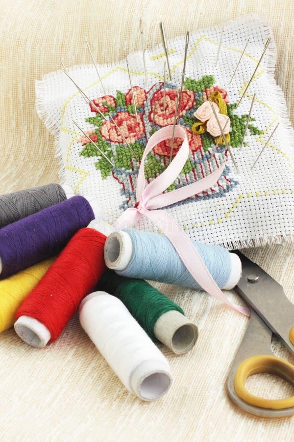 Sewing stuff royalty free stock photo