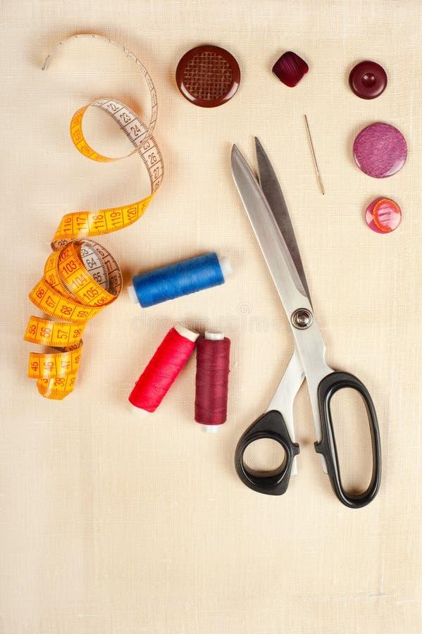 Sewing supplies stock photos