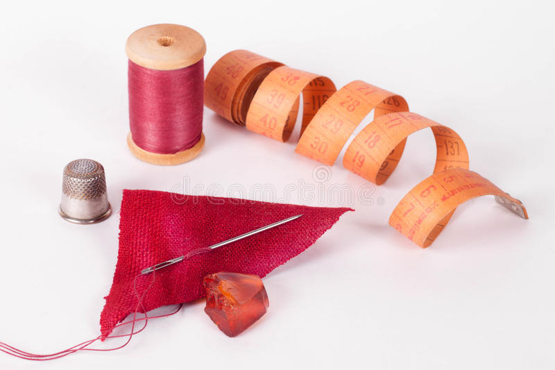 Sewing supplies royalty free stock image