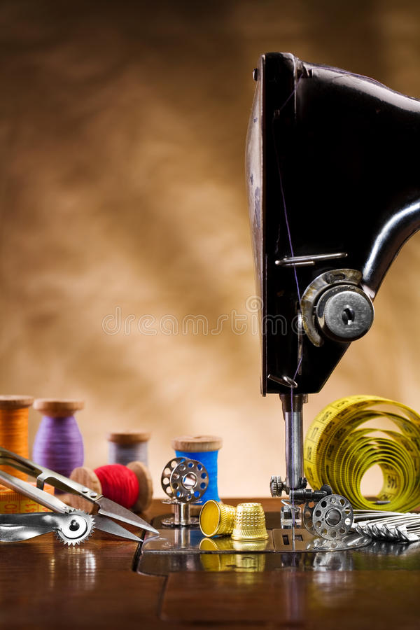 Sewing supplies copy space royalty free stock photo