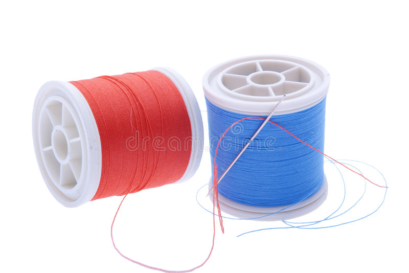 Sewing thread bobbins royalty free stock photos