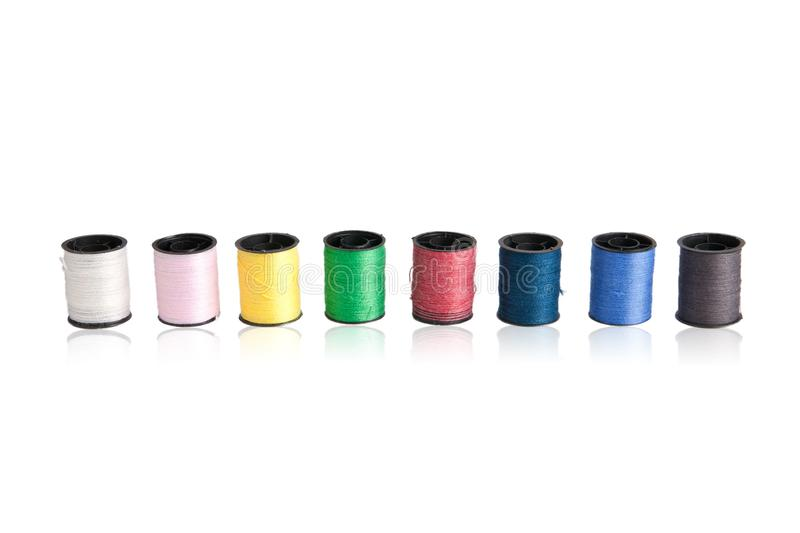 Sewing thread colorful royalty free stock photo