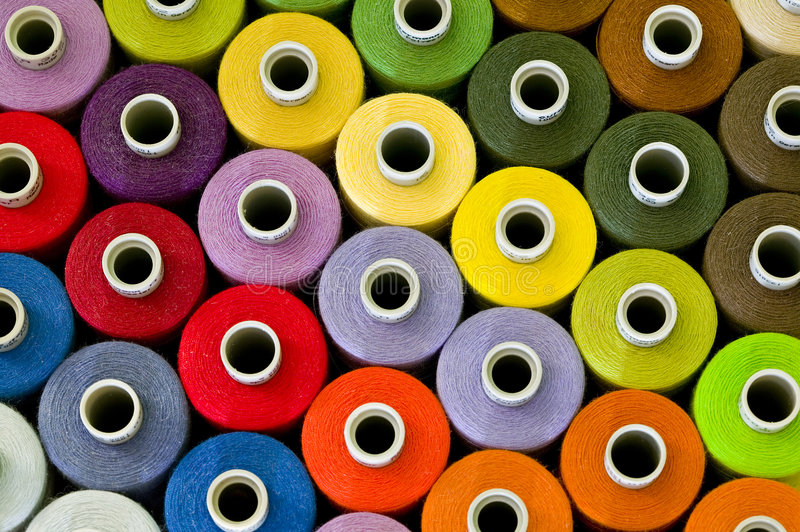 Sewing Thread Pattern. Colorful Sewing Thread Pattern