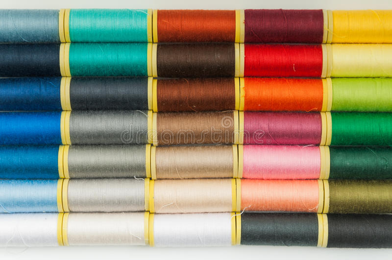 Sewing Thread Pattern stock image
