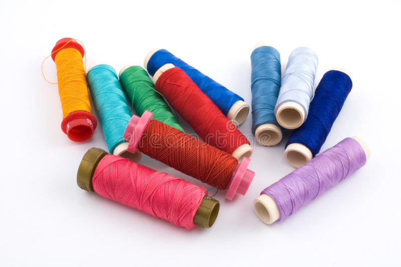 Sewing threads stock photography
