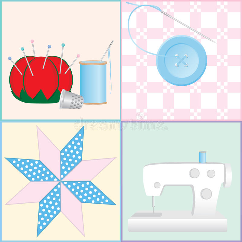 Sewing Tools And Crafts Royalty Free Stock Images