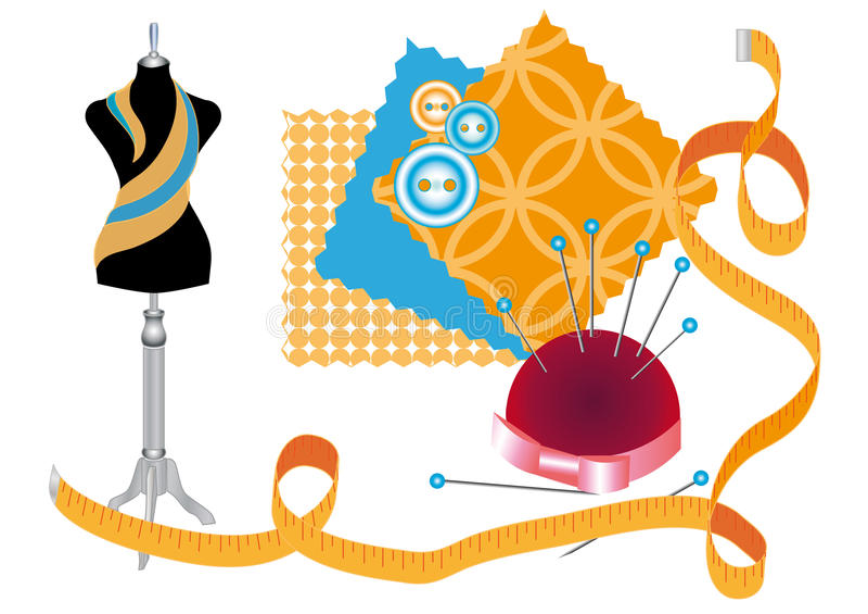 Sewing workshop stock illustration