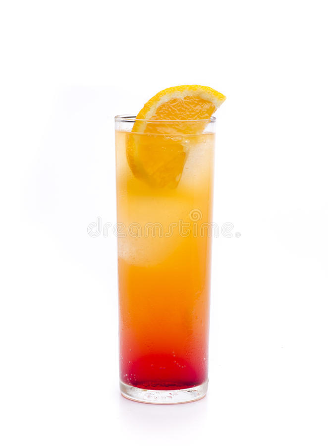 Sex on the beach. A cocktail that is based tequila and grenadine royalty free stock photography