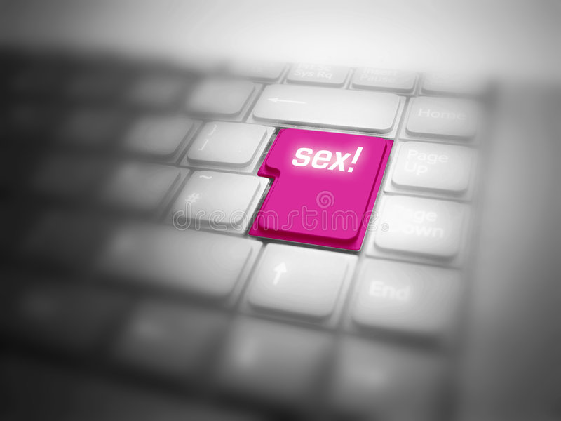 SEX button highlighted on keyboard stock illustration