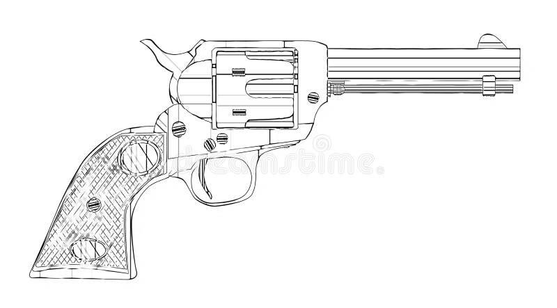 Sex dra för vapen royaltyfri illustrationer