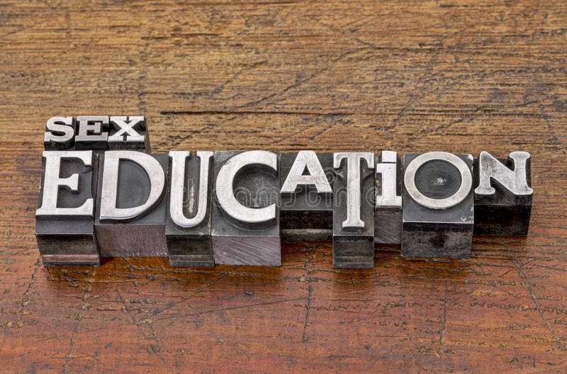 Sex education in metal type royalty free stock images