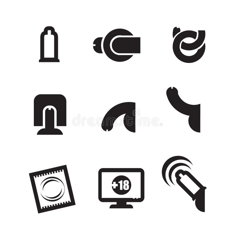 Sex icons set. Authors illustration in vector