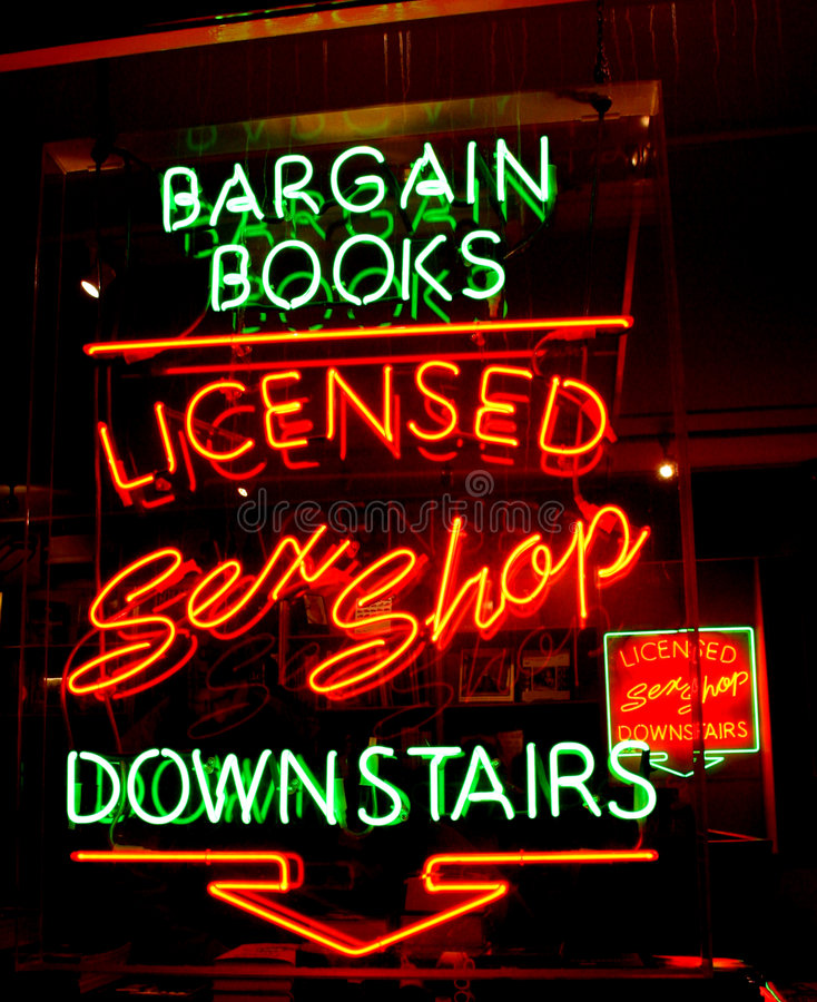 Sex Shop Neon royalty free stock photography