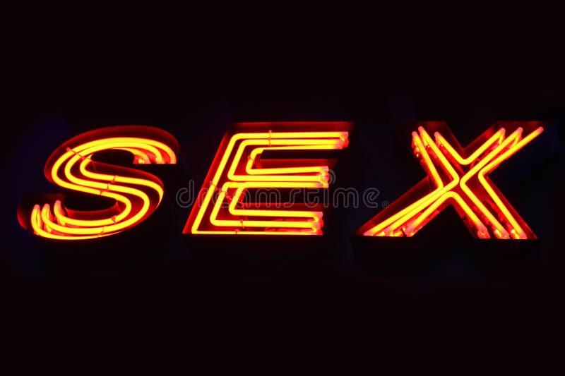Sex shop neon sign stock image