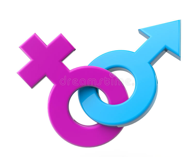 Sex symbol masculino y femenino ilustración del vector