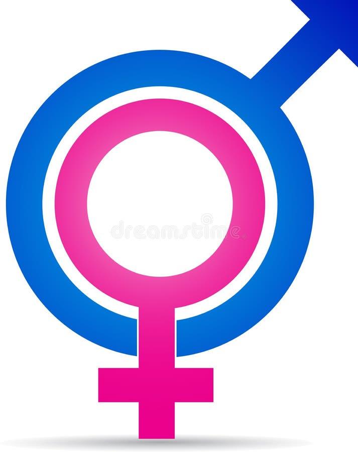Sex symbol. A vector drawing represents sex symbol design stock illustration