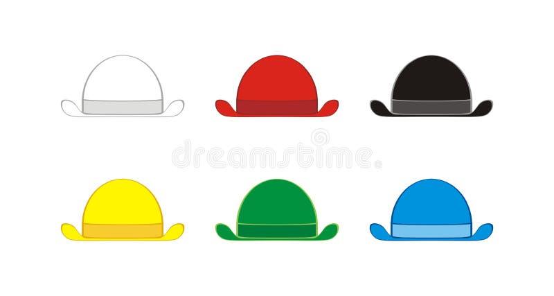 Sex tänkande hattar arkivbilder