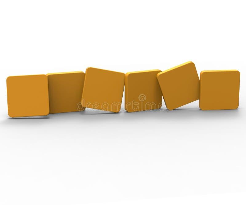 Sex tomma tegelplattashow Copyspace för ord för 6 bokstav royaltyfri illustrationer