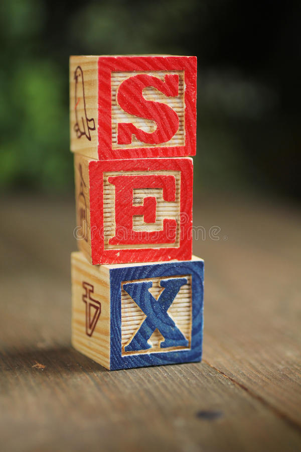 Download Sex wood blocks stock photo. Image of color, type, design - 23452078
