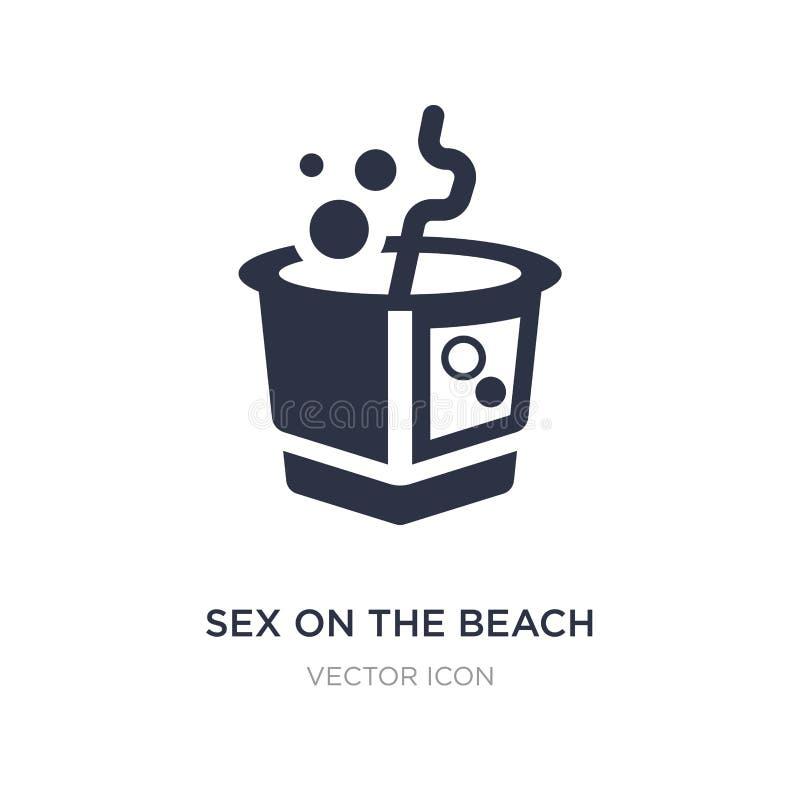 sexe sur l'icône de plage sur le fond blanc Illustration simple d'élément de concept de boissons illustration stock