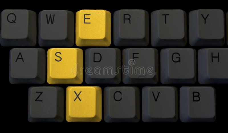 Sexe sur le clavier images libres de droits