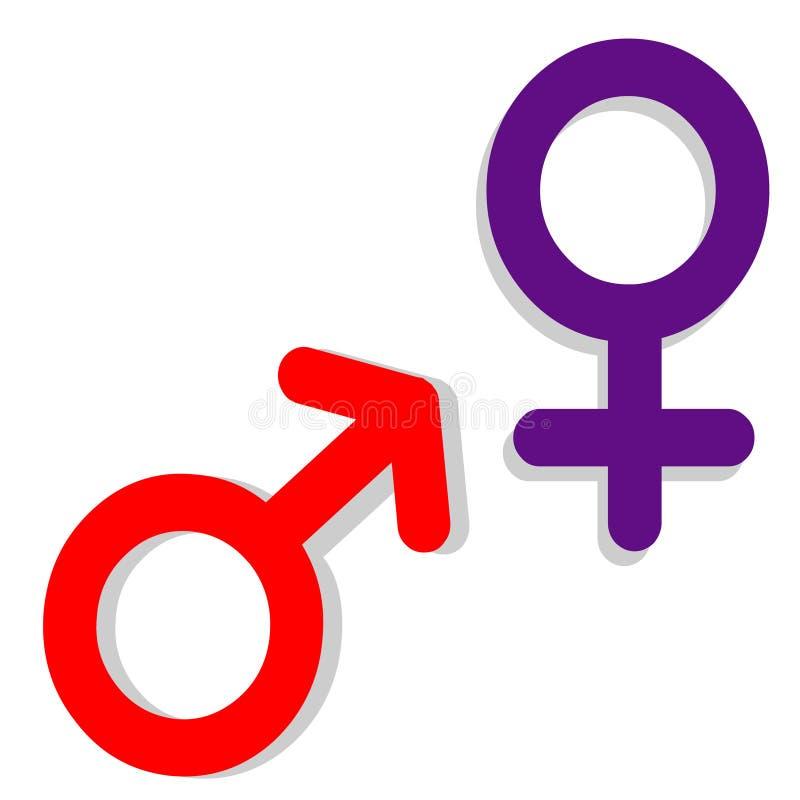 Sexe. Symbole illustration stock