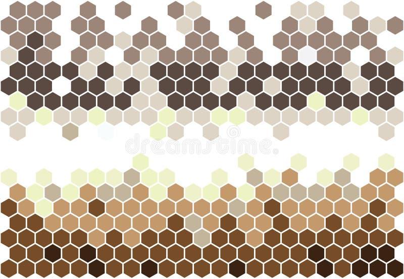 sexhörnig mosaik vektor illustrationer