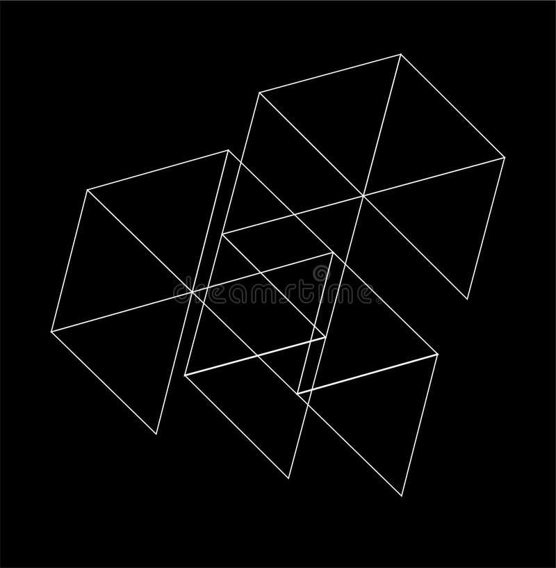 sexhörnigt digitalt anslutningsnätverk för enkel abstrakt triangel royaltyfri illustrationer