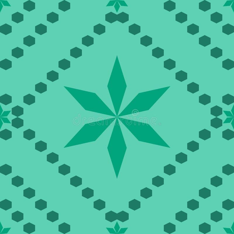 Sexhörning för gräsplan för stjärna för abstraktionvektormodell stock illustrationer