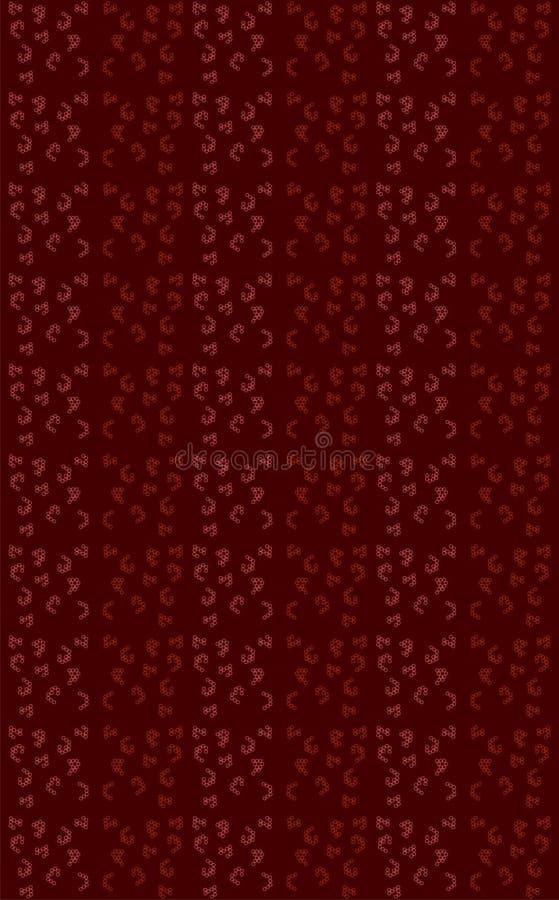 Sexhörningar är sammanfogade itu färger som framkallar en unik designonmehroonbakgrund vektor illustrationer