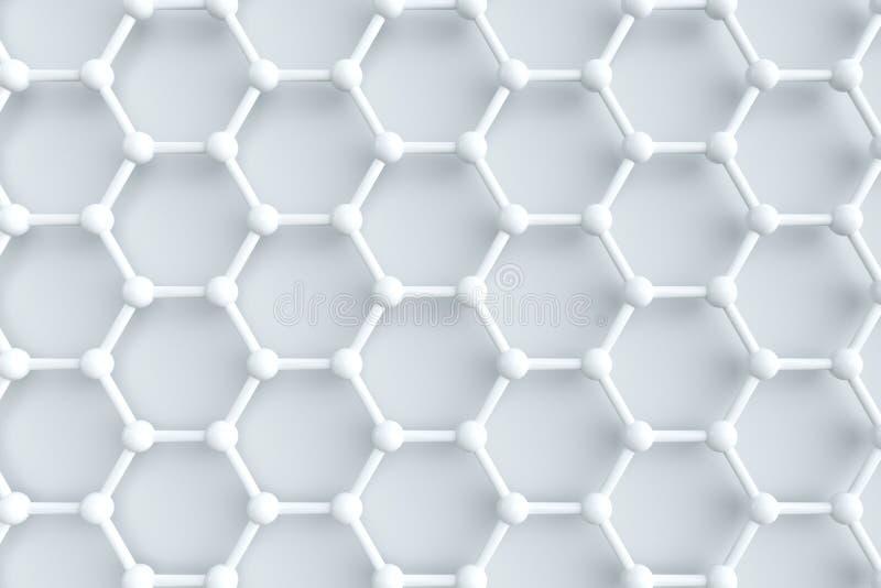 Sexh?rniga gemensamma linjer, tolkning 3d royaltyfri illustrationer