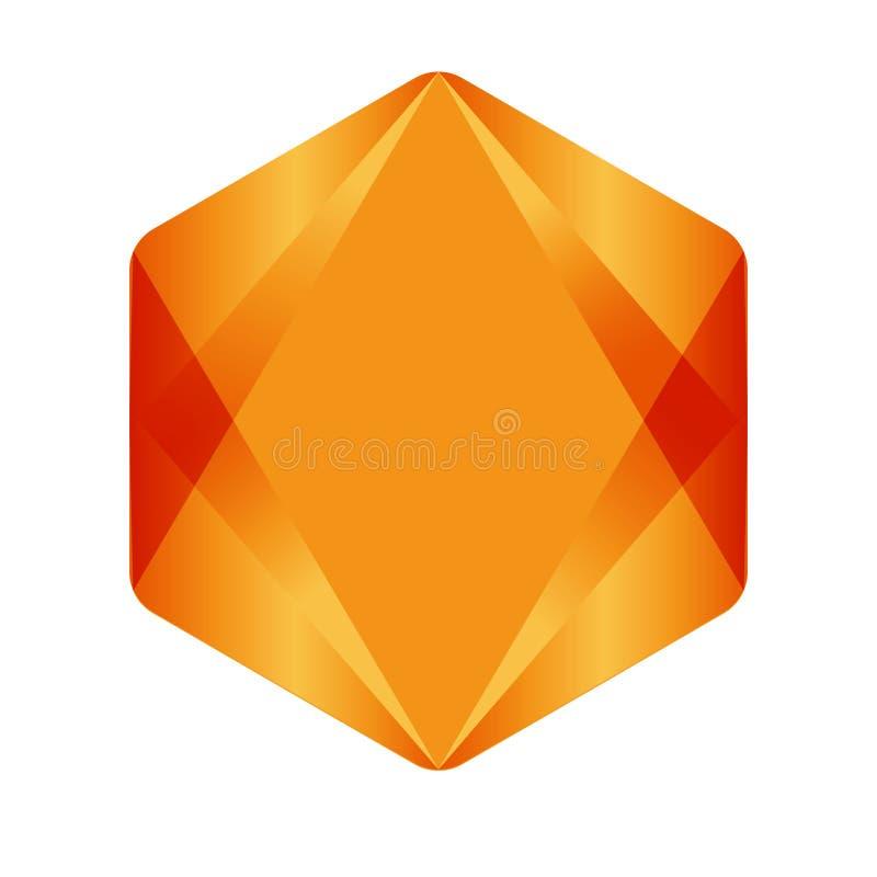 Sexh?rning - illustration f?r vektorlogobegrepp Geometrisk polygonal logo f?r sexh?rning vektor illustrationer