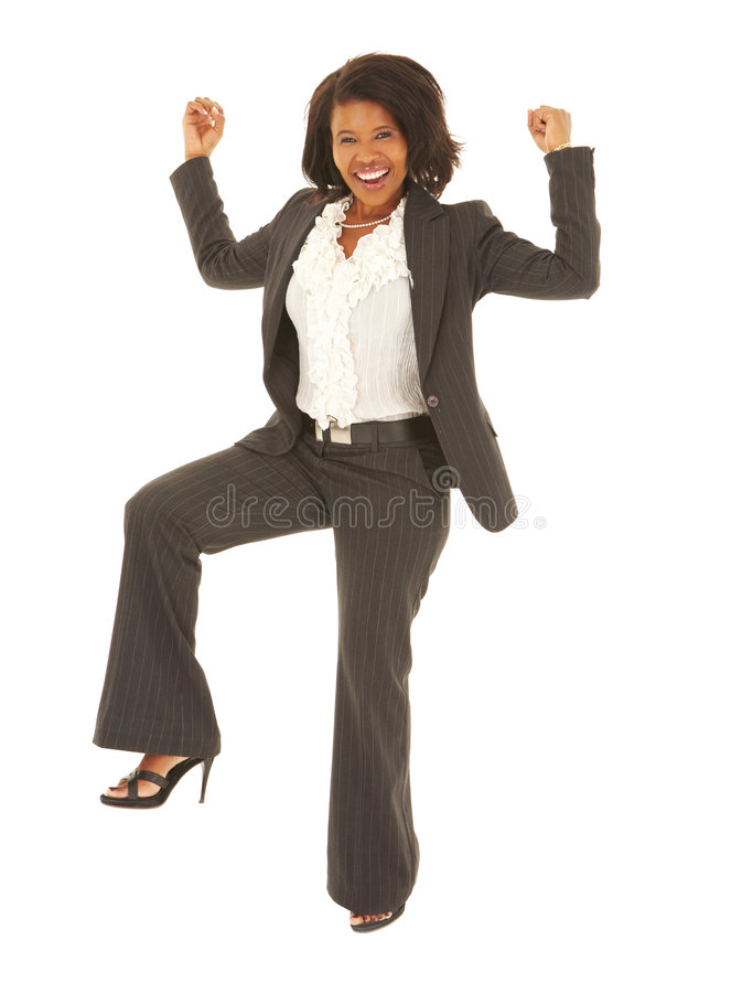 sexig afrikansk affärskvinna royaltyfri fotografi