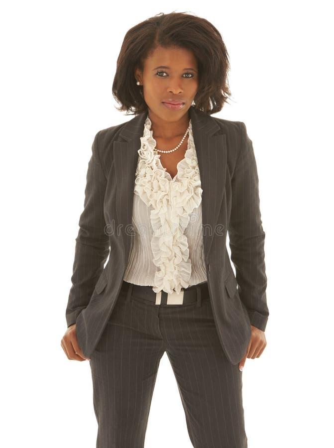 sexig afrikansk affärskvinna royaltyfri foto