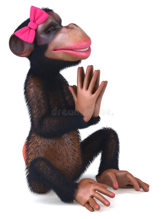 Download Sexig apa stock illustrationer. Illustration av schimpans - 27281550