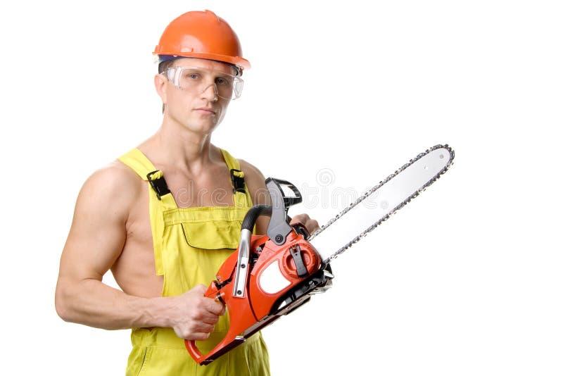 sexig arbetare arkivfoto