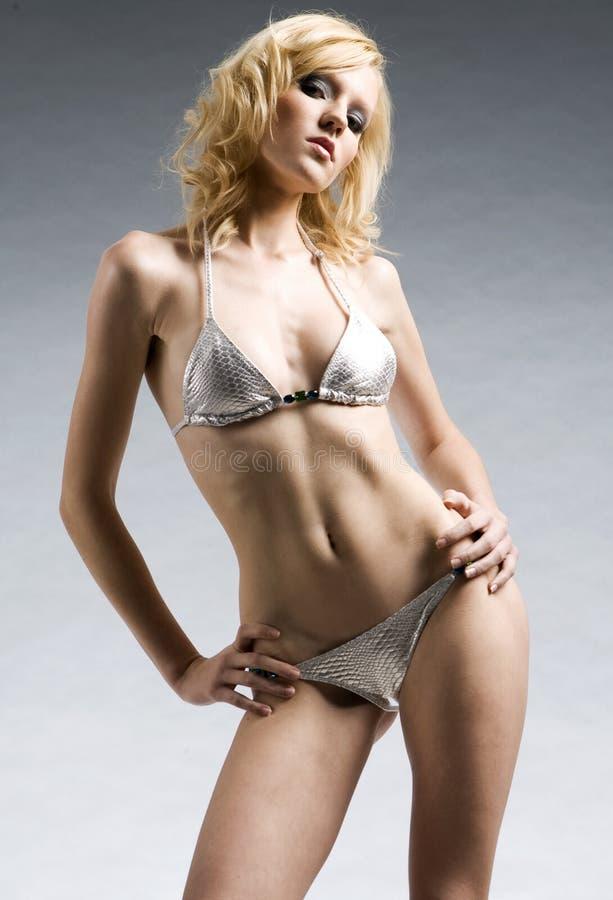 sexig blond flicka arkivfoton