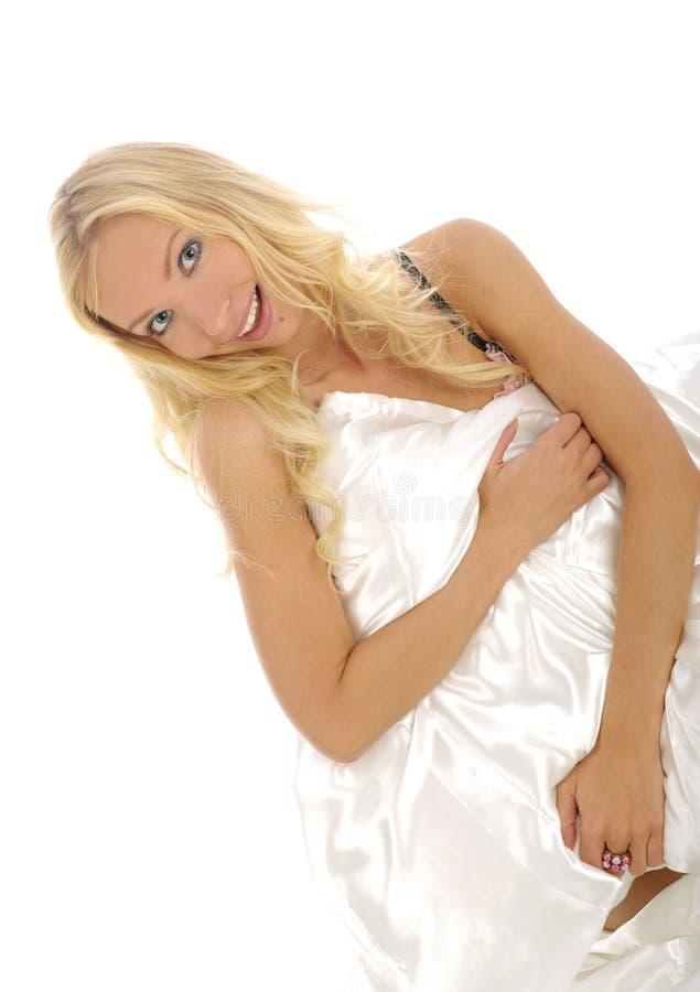 sexig blond gin för underlag royaltyfri bild