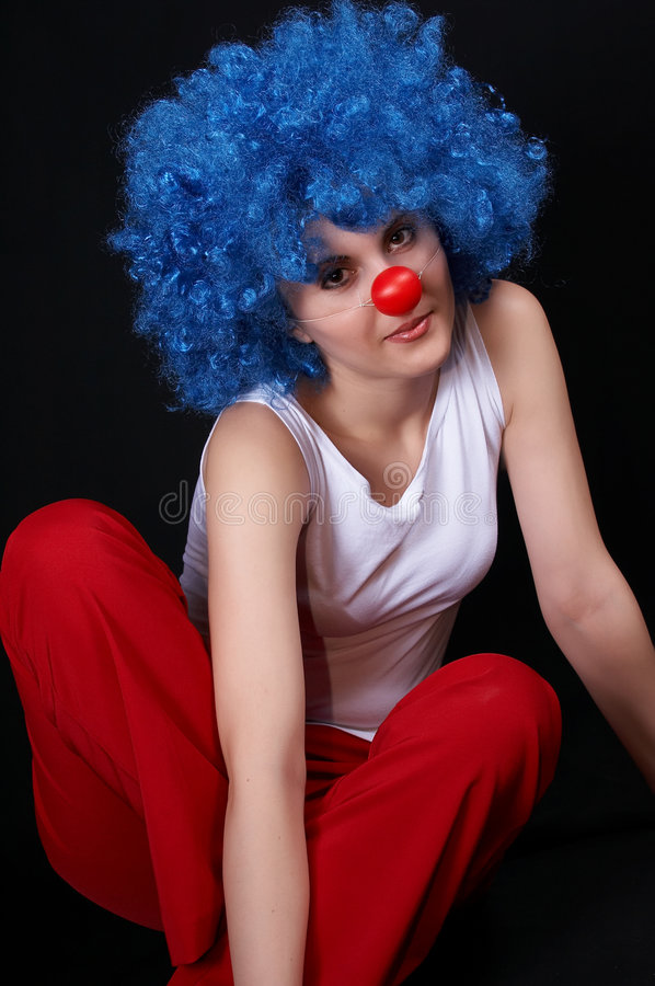 sexig clown 2 arkivbild
